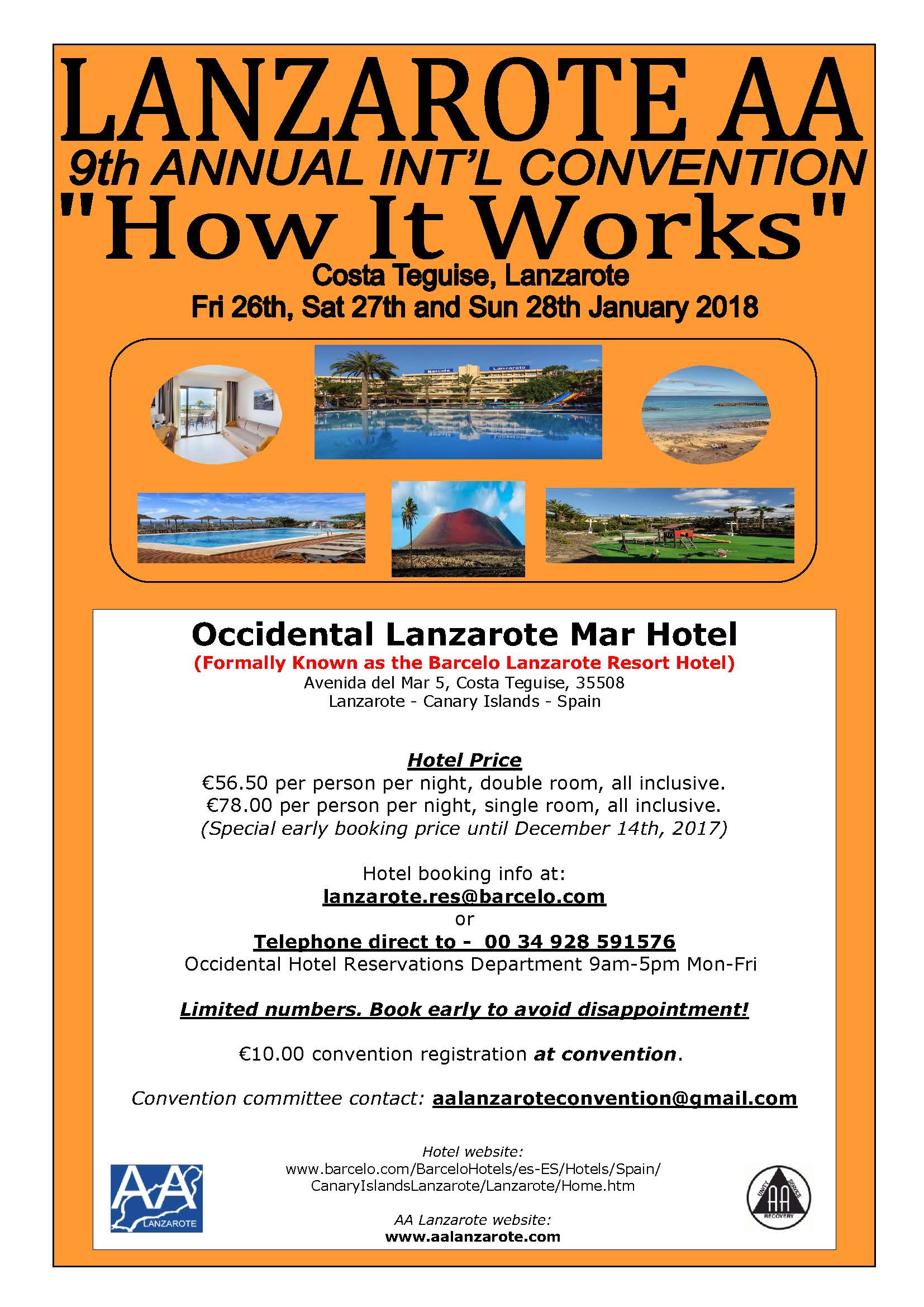 9th Annual AA Lanzarote International English Speaking Convention ...