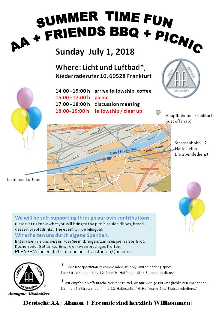 Frankfurt AA annual BBQ and Picnic Alcoholics Anonymous